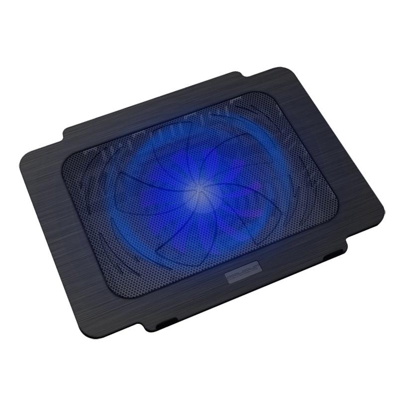 CoolCold USB Super Ultra Thin Fan Laptop Cooling Pad Notebook Radiator - black ...