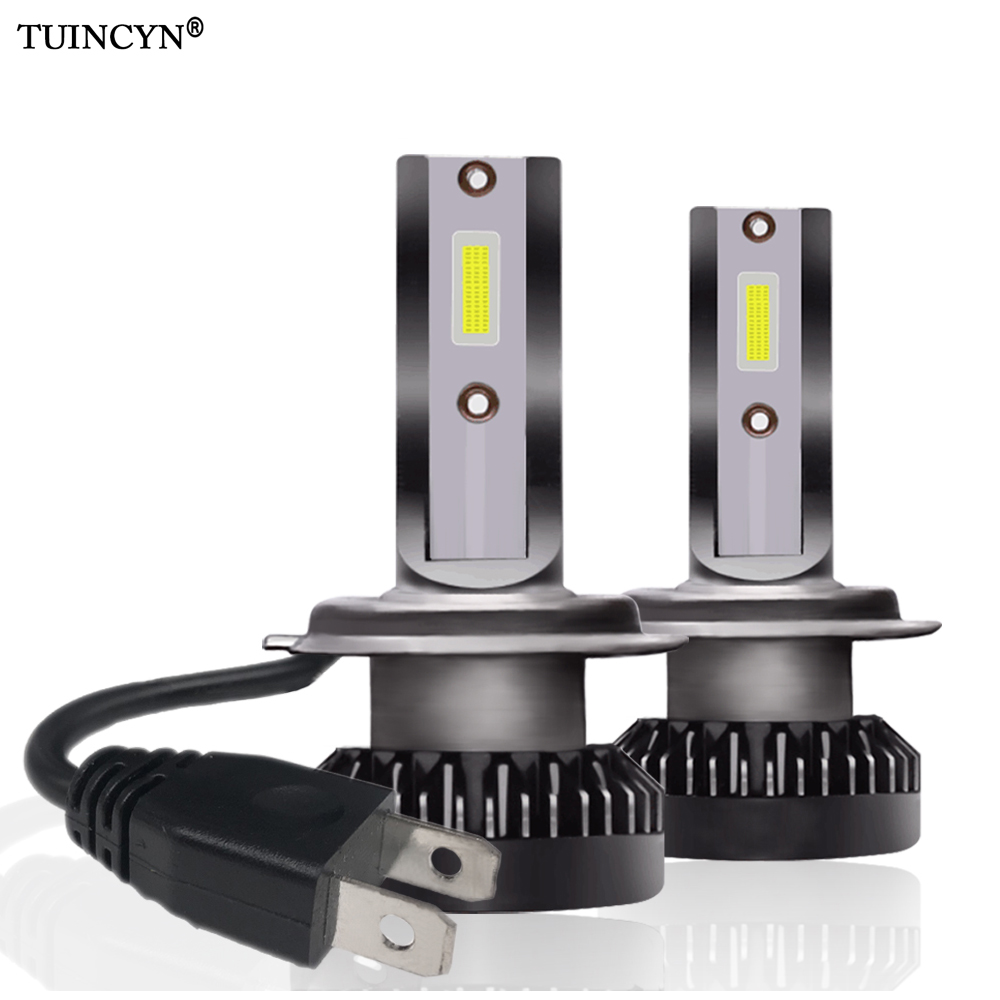 TUINCYN 2pcs H1 <font><b>H7</b></font> H8/H9/H11 9005/HB3 9006/HB4 9012 Mini Led Car Headlight <font><b>12000lm</b></font> 6000k White Super Bright Light Auto 12V Lamps image