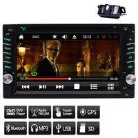 GPS Двойной Дин dvd плеер в тире стерео FM/AM Радио приемник рулевое колесо Управление GPS Телевизионные антенны + резервного копирования Камера +