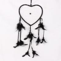 17cm/6.69in Big Heart Dream catcher Black Creative Automotive Accessories Car Ornaments Home Decorations Gift