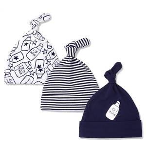 mom's care 3pcs/lot Hats Caps For 0-6 Months Newborn Baby