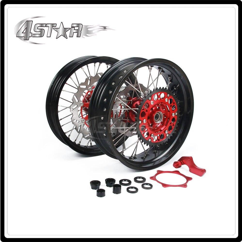 Мотоцикл обода колеса ступицы комплект для Honda CRF250R CRF450R 2014 ОФД ОФД 250р 450р 2013-2015 2013 2014 2015 13 14 15