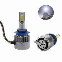 2 Pcs All In One C6 Car LED Headlight HB3 9005 7600lm 6000K LED Car Bulb