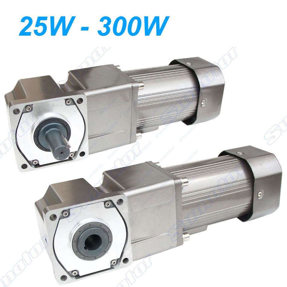 250W AC 220 240V 50/60HZ low speed Right angle 90 degrees Electric geared reducer motor CW CCW Industry adjustable speed control