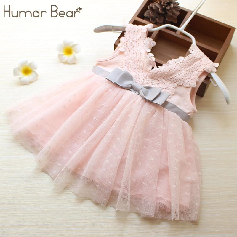 Humor Bear Baby Girls clothing Dress 2018 New Summer Style Baby Clothing Lovely Dress Ba ...