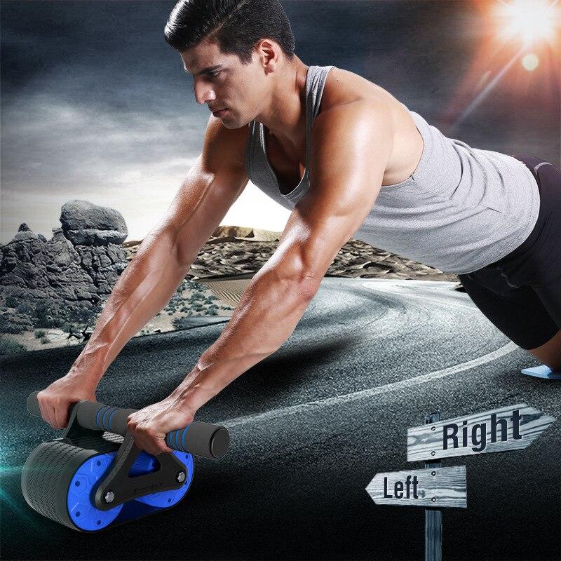 Rebound abdominal wheel home tank abdominal wheel push-up roller wheel reduction bearing bearing mute fitness equipment