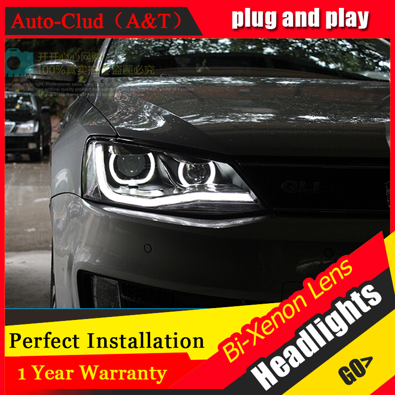 Auto Clud Style Head Lamp for VW Jetta MK6 led headlights new Jetta headlight drl H7