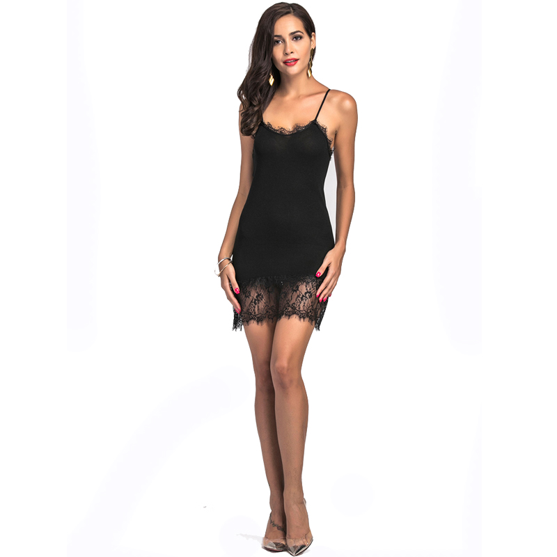 Sexy Off Shoulder Solid   Tank   Camisole Women Lace Camis Sleeveless V-neck Camis Above Knee Length Lady Fashion   Tank     Tops