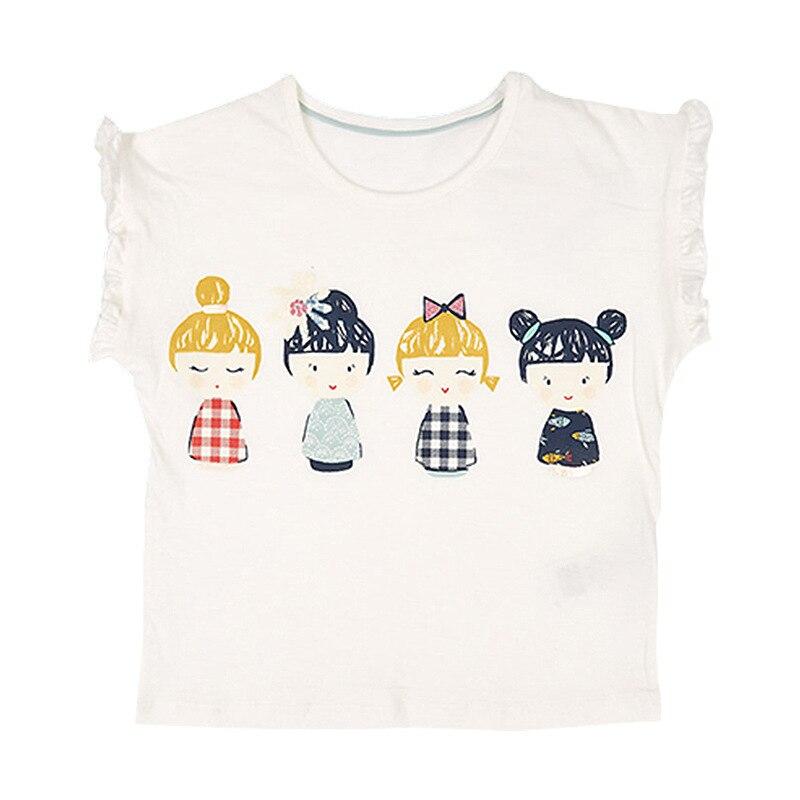 Little Maven New Summer Kids Clothing Sleeveless O-neck Lovely Girls Dolls Knitted Cotton Quality Girls Casual Fashion Tshirt