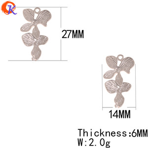 Image 3 - Cordial Design 100Pcs 14*27MM Jewelry Accessories/Earrings Connectors/Flower Shape/DIY/Hand Made/Jewelry Findings Component