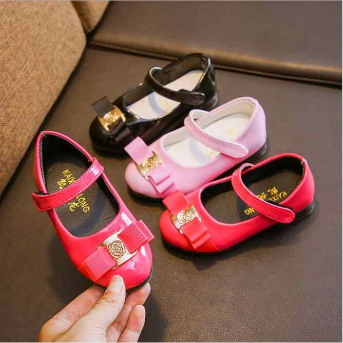 c6b9475c94b4b Detail Feedback Questions about New Girls Princess Leather Shoes For Black  Kids Dress Sheos Red Bow Fashion Korean Children School Flat Shoes on ...