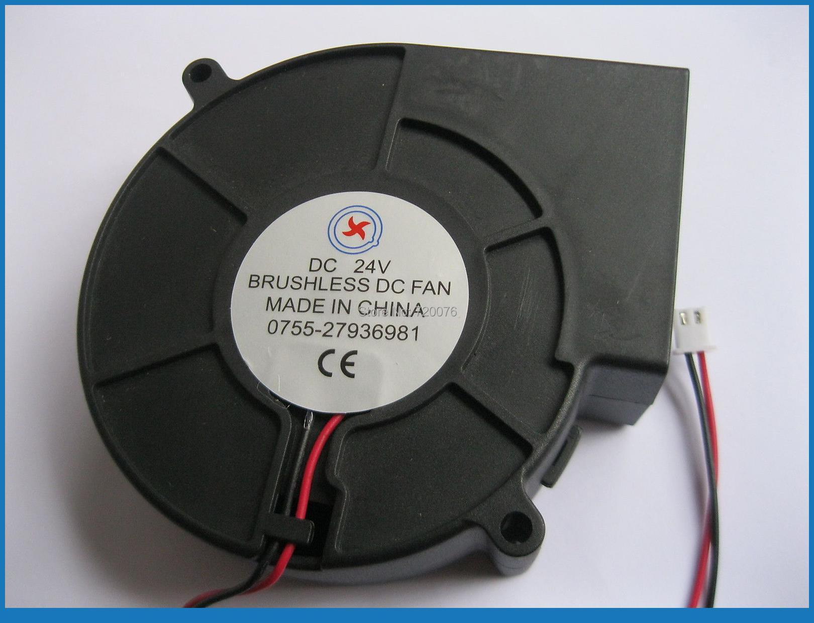 4 x Brushless DC Cooling Blower Fan 9733 24V 9733s 2pin av 8025m24b dc 24v brushless cooling fan for diy