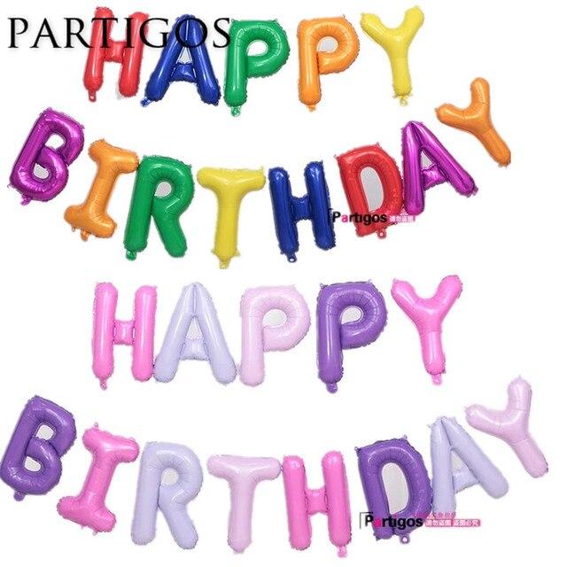 17 unids 17 pulgadas delgada mezcla color Feliz cumpleaños carta ...