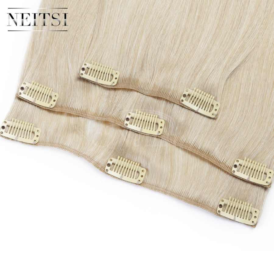 Neitsi 14 ''3 шт./компл. 75 г клип на синтетические волосы для наращивания прямые шиньоны светлые 1000C #
