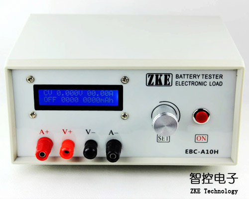 EBC A10H electronic load, mobile power charging head test, battery capacity tester, cycle charge
