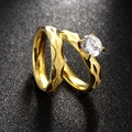 2pcs Ring Set Stainless Steel Trendy Womens Mens Ring Size 6,7,8,9