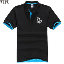 Hands Praying Polo shirt kanye west Casual loose camiseta masculina Men Women Short Sleeve polo Plus