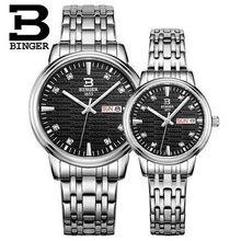 Binger Luxury Women Crystal Dress Lover Watches Brand Fashion Quartz Watch Genuine Leather Watch Casual Clock relogiofeminino