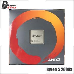 Image 2 - Процессор AMD Ryzen 5, 2600X Р5 2600X 3,6 ГГц, шесть ядер, двенадцать потоков CPU L3=16M 95 Вт YD260XBCM6IAF сокет АМ4, новый, с кулером