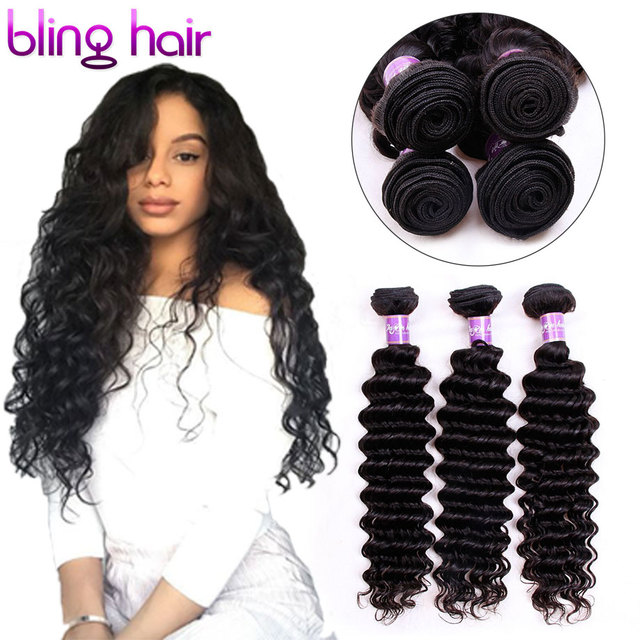 Bling Hair Malaysian Deep Wave Human Hair Bundles 134 Pieces 8 34