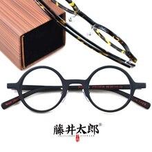 TARO FUJII Optical Eyeglasses Frame Men Women Prescription Myopia Round Glasses For Computer Spectacle Clear Lens Female