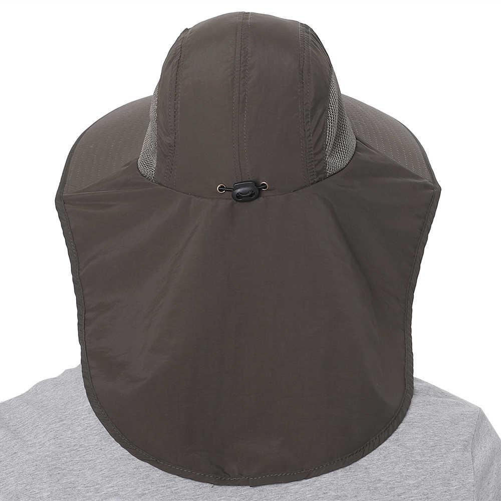 1Pcs Sommer Outdoor Sport Wandern Visier Hut UV Schutz Gesicht Hals Abdeckung Angeln Sonne Schützen Kappe Beste Qualität