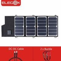 Elegeek 26 Вт 5 В солнца Мощность складной Панели солнечные Зарядное устройство USB + DC Выход 12 В Солнечный Зарядное устройство Мощность банка для