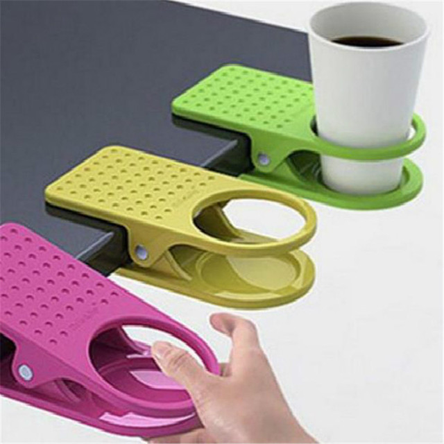 Home Drink Coffee Water Cup Holder Storage Mug Rack Cradle Stand Clip Desk Table