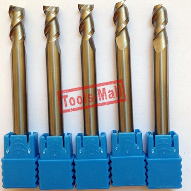 1pc 6mm D6*25*D6*75 HRC50 2 Flutes Milling cutters for Aluminum  CNC Tools Solid Carbide CNC flat End mills Router bits