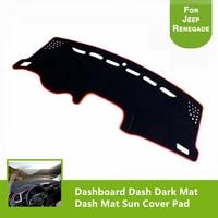 High Quality Felt Fabric Dashboard Dash Dark Mat Dash Mat Sun Cover Pad For Jeep Renegade 2014 2016