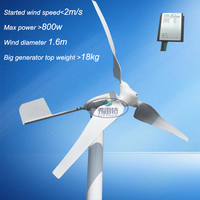 China Cheap New Arrival 600w MAX 800w Wind Generator With 600w Wind Charge Controller