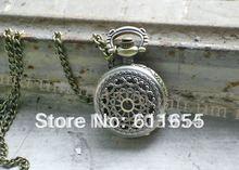 Free shipping,hot sale,wholesale,10pcs New bronze Spider web net necklace Chain Pendant quartz mini Pocket Watch for woman WP213