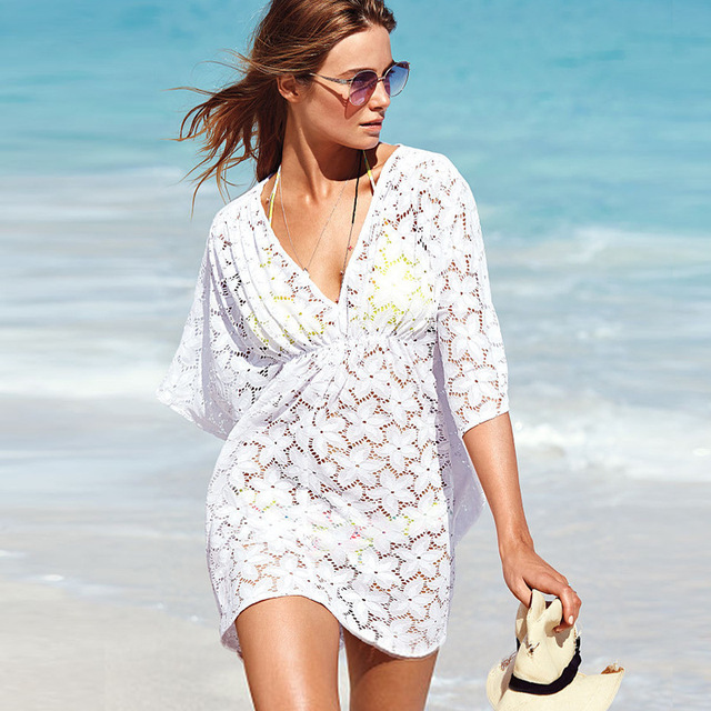 Womens Tops Fashion 2015 Dresses Clothing For Beach Plus Size White