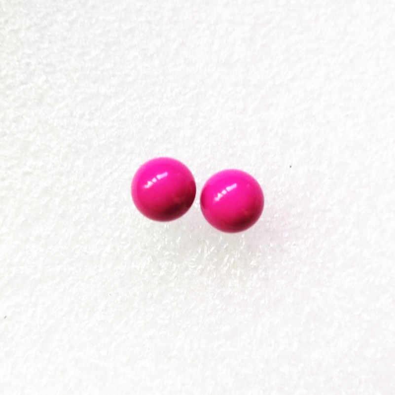 9 colores elegir pendientes de caramelo a la moda y encantadores, pendientes de perlas de imitación simples y joyería al por mayor como regalos para mujeres