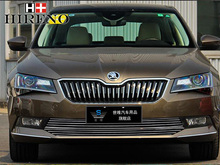 Racing Grills for Skoda Superb 2016 Aluminum alloy car styling Refit grille air intake grid radiator car grill