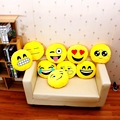 Emoji expression doll 32cm*32cm QQ expression to sell sofa pillow yellow cotton cushions pillow plush toys