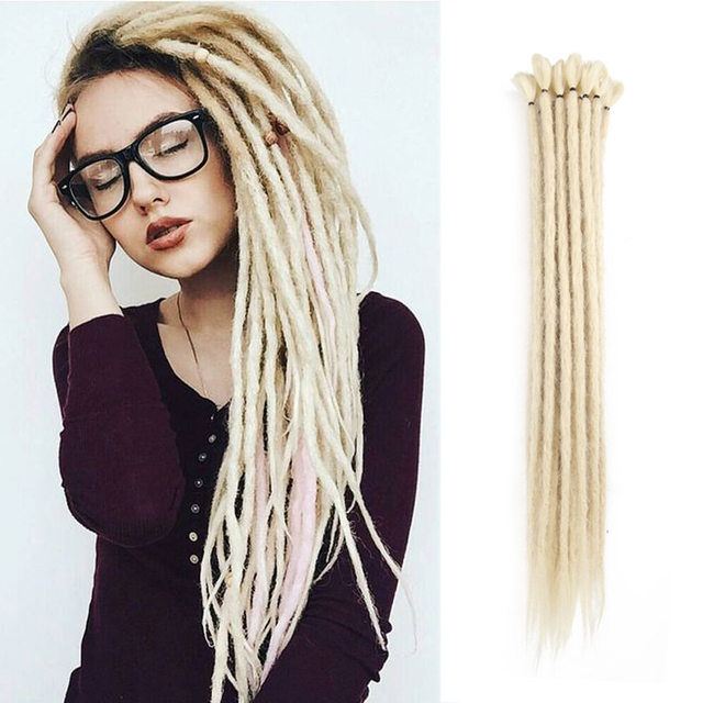 dreads blonde dreadlocks extension handmade crochet hair extension