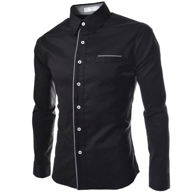 New Men Shirt Chemise Homme 2016 Fashion Design Long Sleeve Mens ...