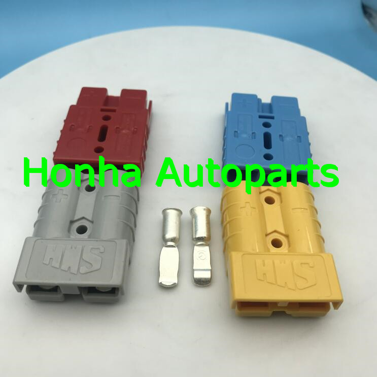 1/2/5 pcs/lots SMH 2P <font><b>175A</b></font> <font><b>600V</b></font> Power <font><b>Connector</b></font> <font><b>Battery</b></font> Plug UPS Connectors kits For forklift electrocar with 2AWG terminal image