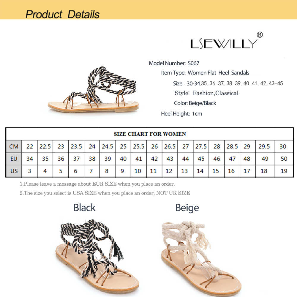 Sandalias lseilly de gladiador con correa cruzada para mujer, color Beige, negro, dulce correa de tobillo, Roma, cordones, sandalia plana señoras, zapatos 2018 S067
