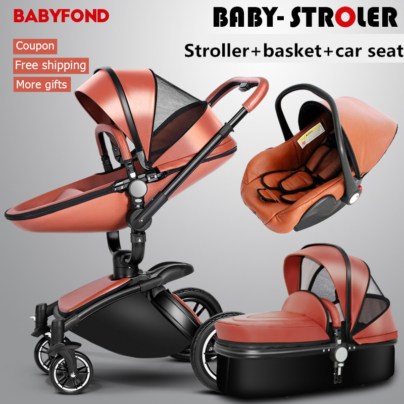 European Baby Strollers Hk Free !brand Baby Strollers Carriage Pram Light Car Eu Export Leather 0-3 Years 5 Colors Free Gifts 2017 special offer direct selling european baby strollers export brand baby strollers 2 in 1 carriage 3 with car seat