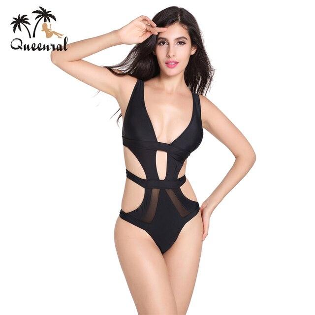 28ff71a60a46 € 23.66 |Queenral Lencería trajes de baño Monokini Trikini Brasileño  bralette Ropa Interior Femenina para las mujeres de Una Pieza de la Ropa ...