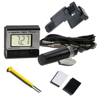 Aquarium Digital Mini pH Meter Monitor BNC replaceable probe button battery