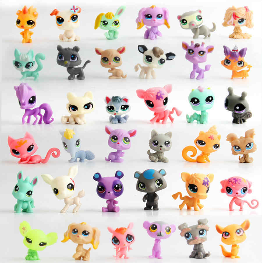 Free Shipping 50pc/lot 1-1.cm LPS Unicorn mini Action Figures Vinyl Dolls Little Pet Kitty Toy Anime Kids Gifts Toy for Children