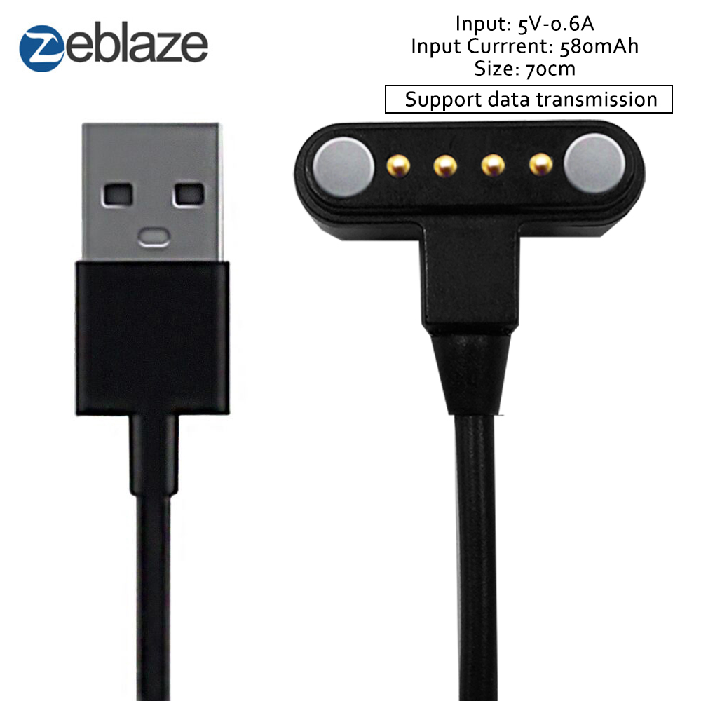 Zeblaze THOR 4 Smart Watch 65cm Length Charging Cable with Port Magnetic USB Power Charging Cable practical 1m magnetic charging smart led luminous cable