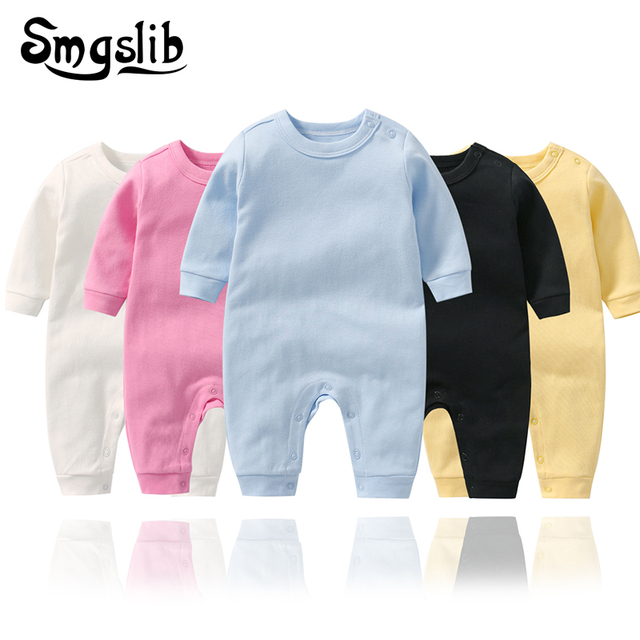 Baby Girl Rompers Autumn 100%Cotton Newborn funny baby clothes For 0-2Y Girls Boys Long Sleeve Jumpsuit Kids Outfits Clothes