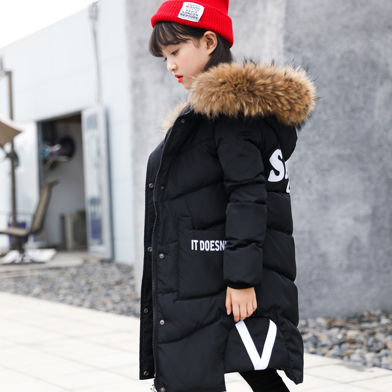 2017 new winter jacket children in large thick girls long down jacket in children on behalf of Korean children children s 2017 winter new children s down jacket big girls in the korean version of the girls down jacket long thick coat