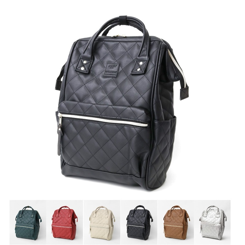 Image 2 - New brand anello pu plaid backpack, fashion campus  large men and  women school backpack  Leisure Laptop Travel BagsBackpacks   -