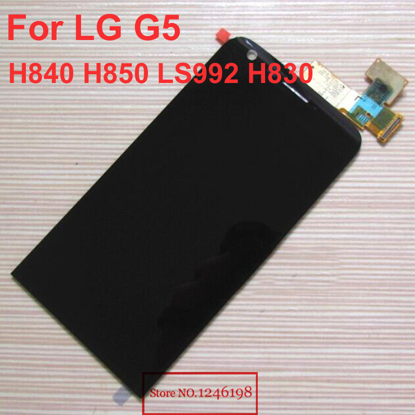 5.3 Black Color High Quality New LCD Display Touch Screen Digitizer Assembly For LG G5 H850 Phone Replacement Parts