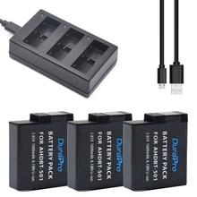 DuraPro 3Pcs AHDBT-501 1600mAh GoPro Hero5 Battery + Three-Channel USB Charger for GoPro Hero5 Sport Motion Digital camera GoPro5 Battery
